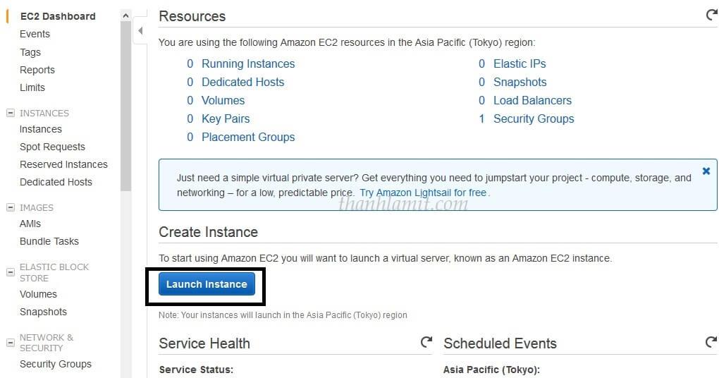 Create Instance Amazon EC2