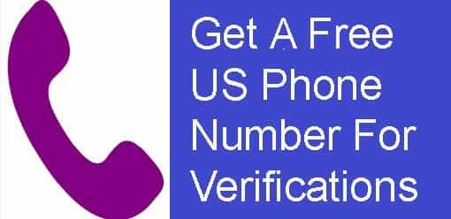 Get a Free US Phone Number For Verifications