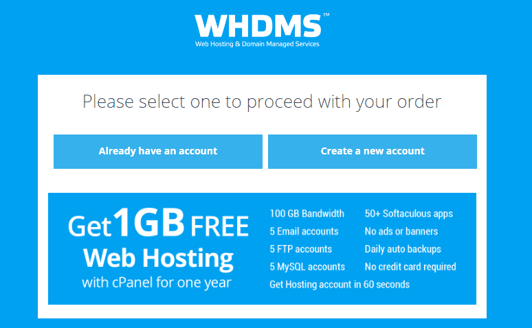 Get Free Web Hosting with cPanel for One Year