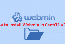 How to Install Webmin in CentOS VPS