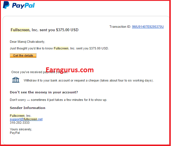 Payment Proof FullScreen