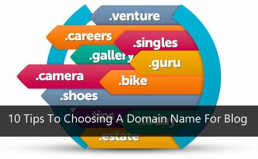 10 Tips To Choosing A Domain Name For Blog