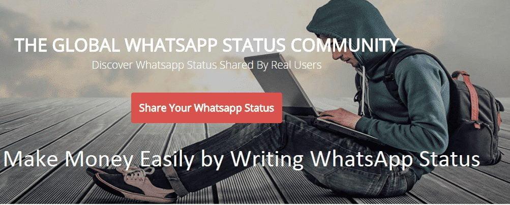 Make Money Easily by Writing WhatsApp Status