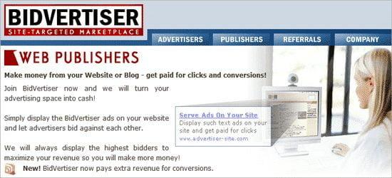 Bidvertiser adsense alternative