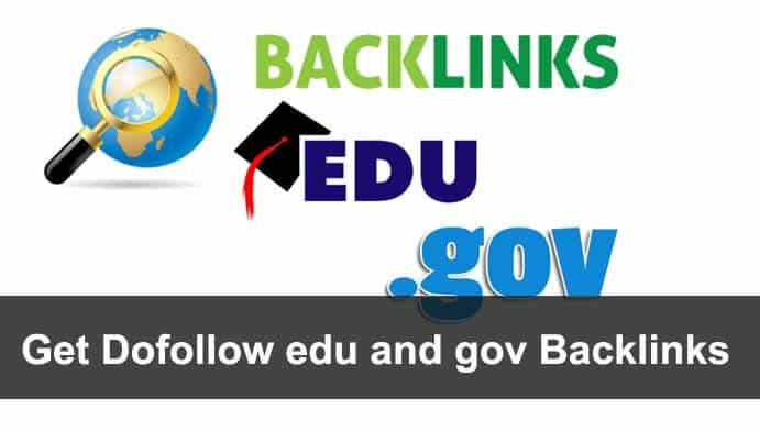 Get Dofollow edu and gov Backlinks