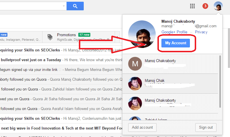 trick to create gmail account with single number