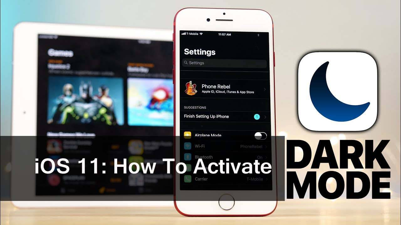 How to Activate The Dark Mode in iOS 11