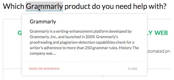 Grammarly words defination