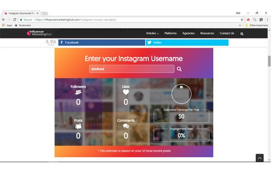 Enter your Instagram username