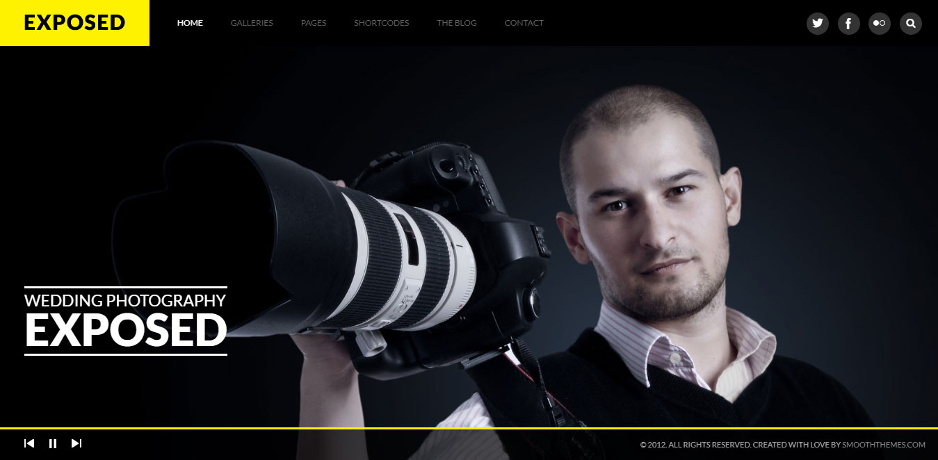 Responsive WordPress Photography Theme