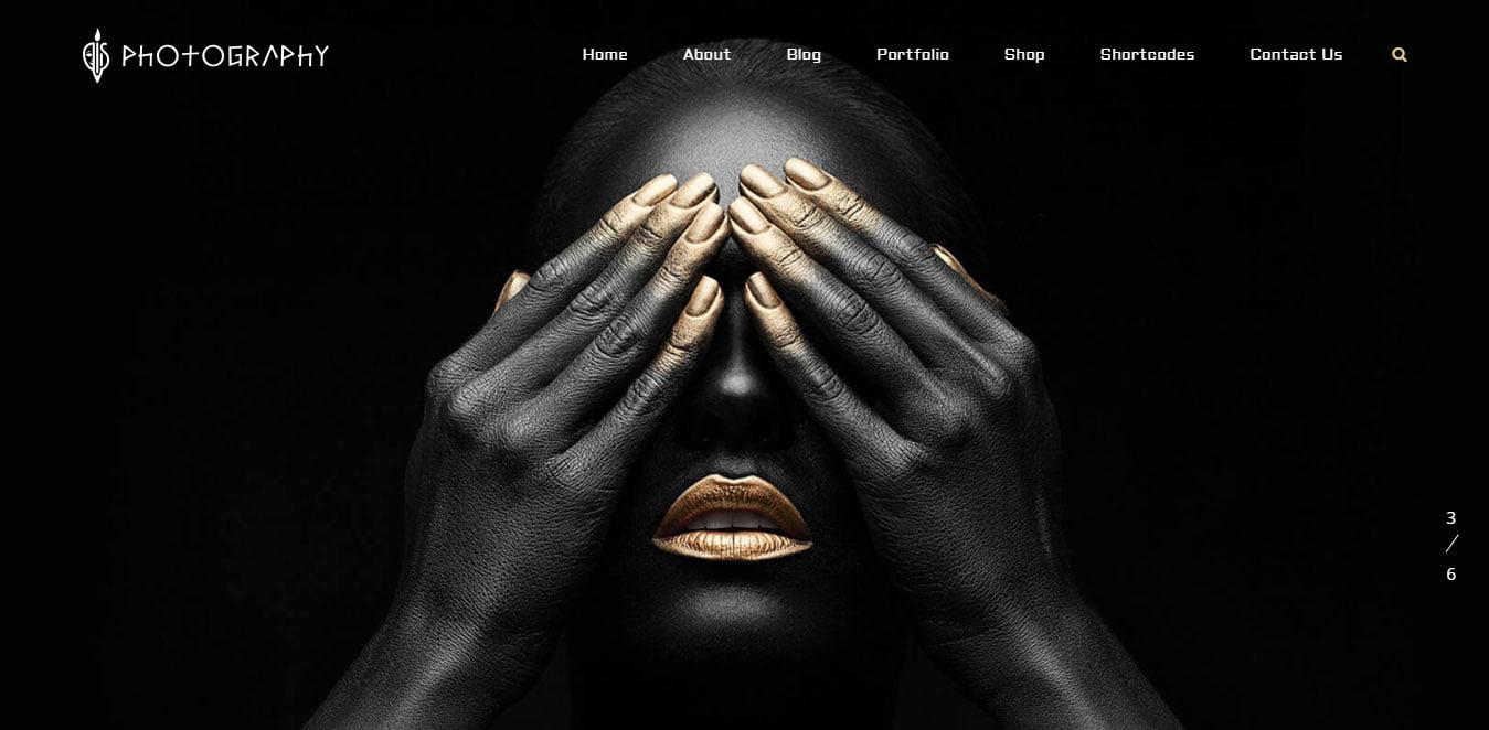 Fullsreen photography wordpress theme