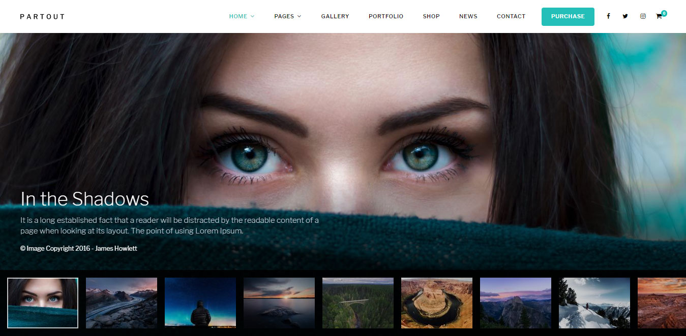 Fullscreen Photography Theme
