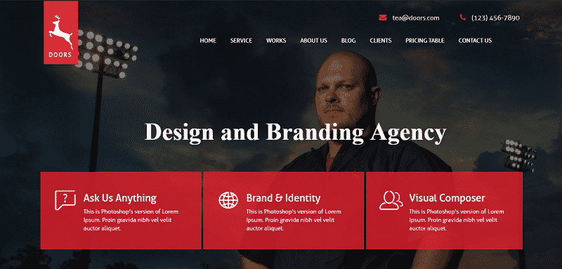One page multipurpose Joomla Template