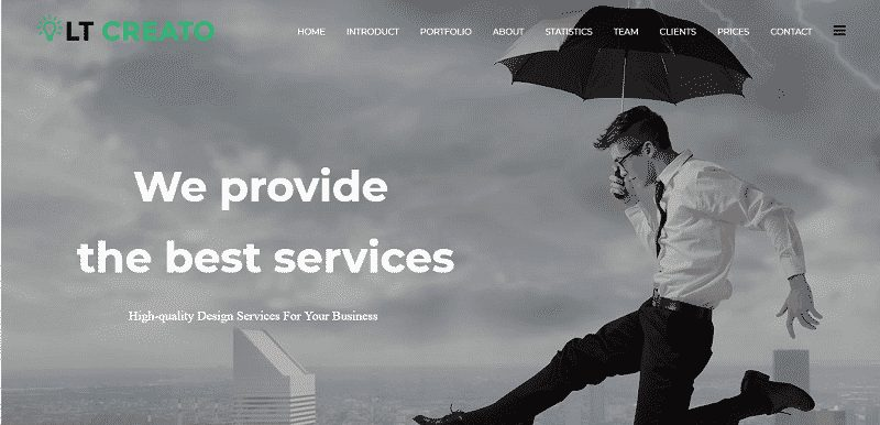 Multipurpose one page Joomla template