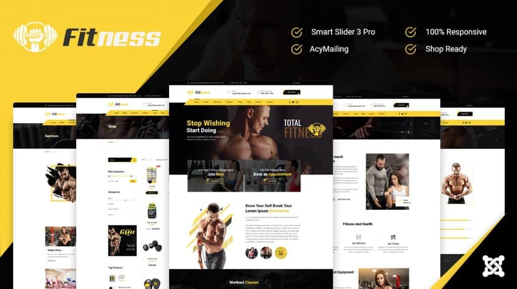 Best Joomla Fitness Responsive template