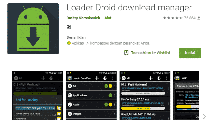 2. Droid Download Manager Loader