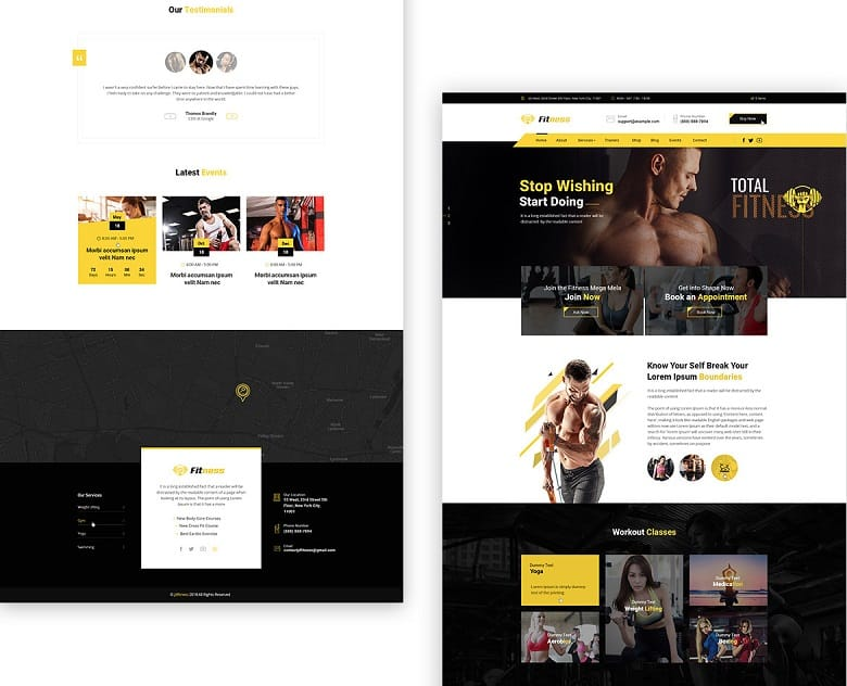 Best Joomla Template for Fitness & Gym