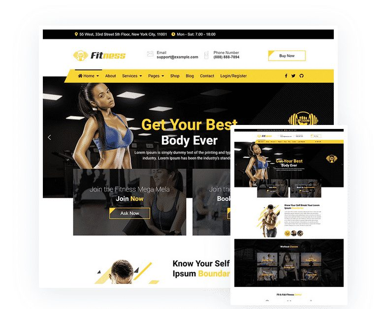 Best Joomla Fitness Template