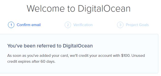 digitalocean $100 code