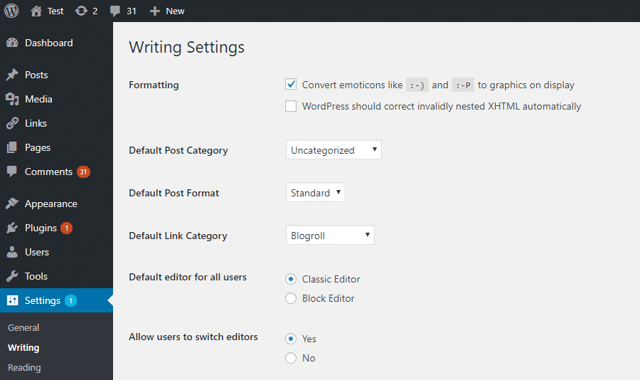 How to restore the old version Post Editor on WordPress 5.0