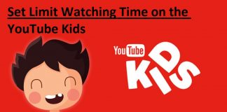 Set Limit Watching Time on the YouTube Kids
