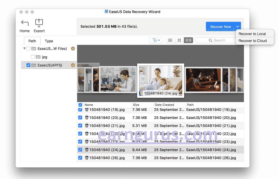 Restore deleted mac Files