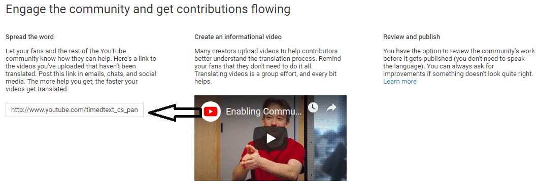 share community contributions