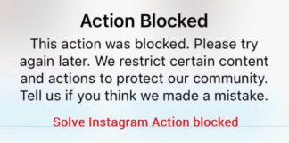 Instagram Action blocked