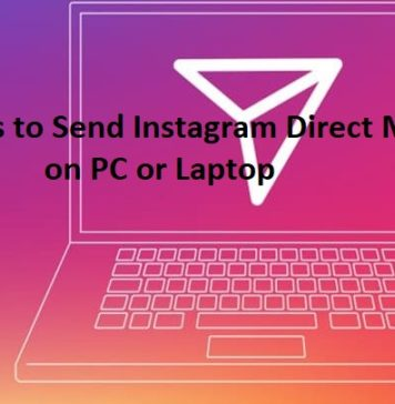 Send Instagram Direct Message on PC