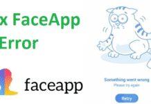 Fix FaceApp Error