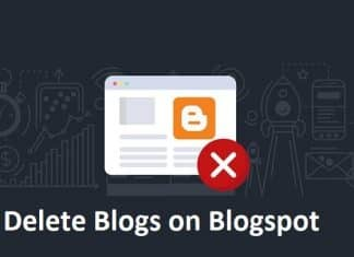 Delete Blogs on Blogspot