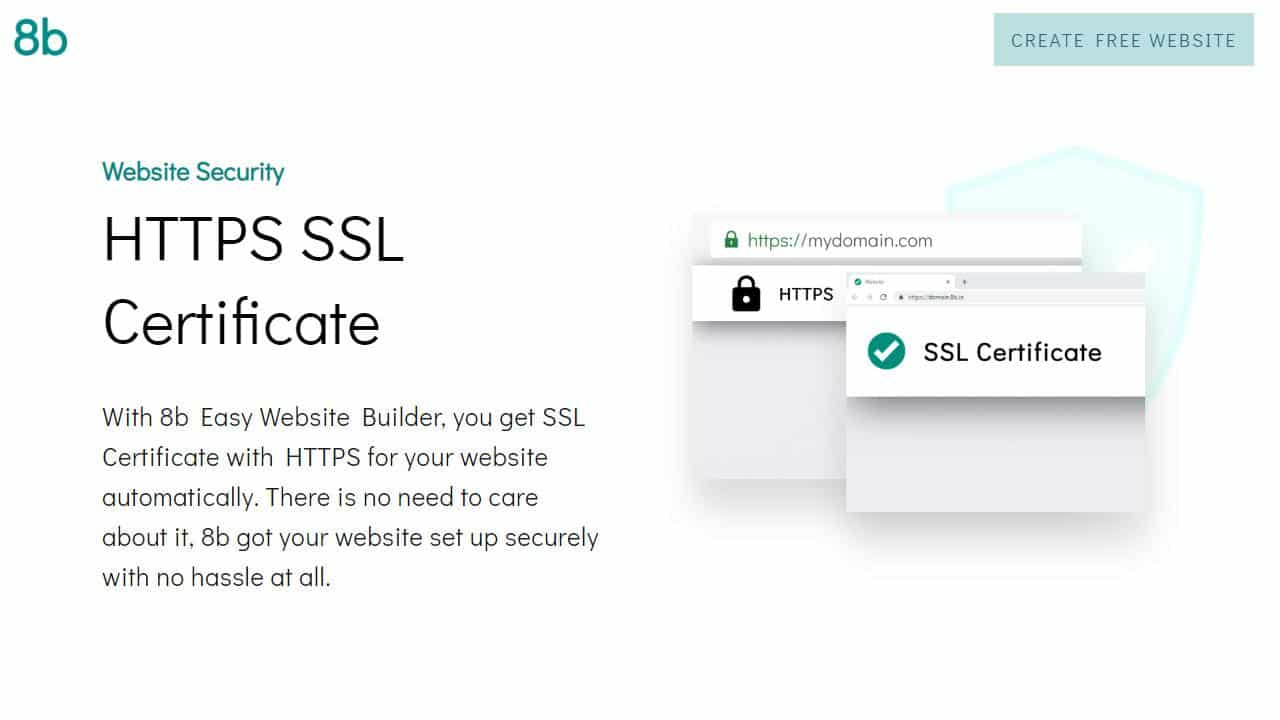 8b Website Builder with ssl