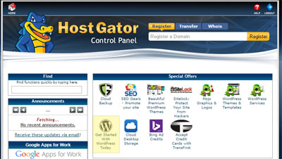 Install WordPress HostGator