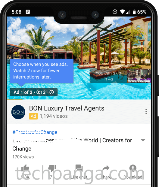 youtube ads free app