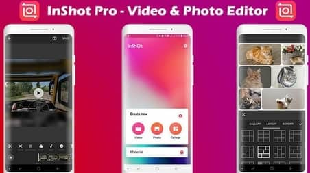 InShot video editing application