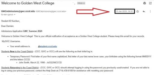 edu email id and password