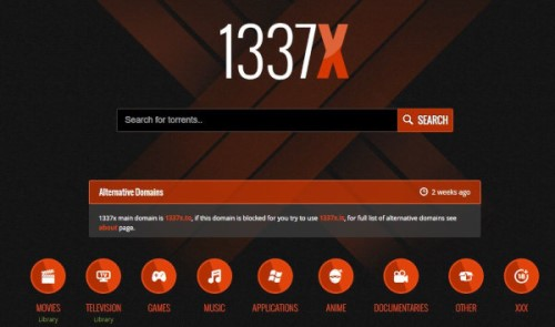 1337X best anime torrent site