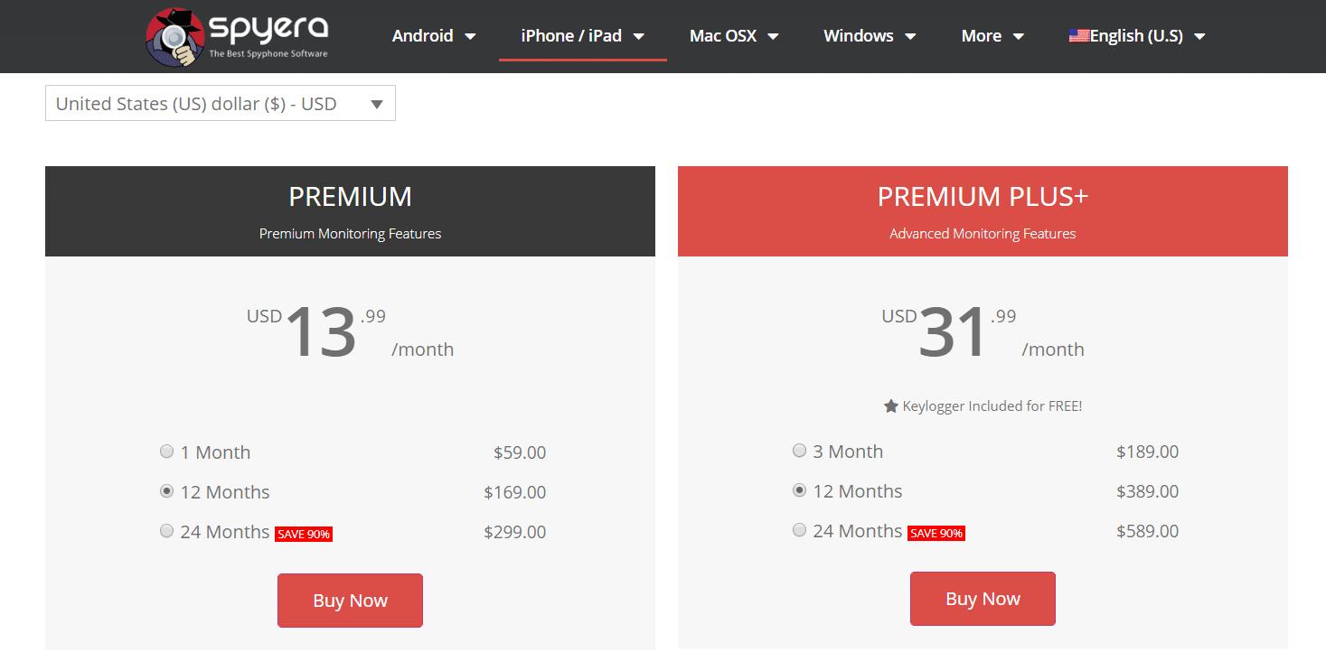 Spyera price