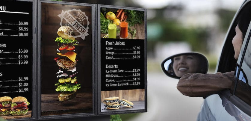 Is Digital Signage for Your Restaurant's Drive-Thru Worth It