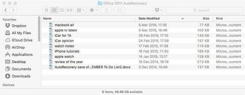 Retrieve Word Document Mac from AutoRecovery