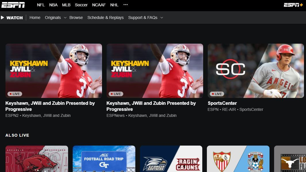 ESPN Free Sports Streaming Websites