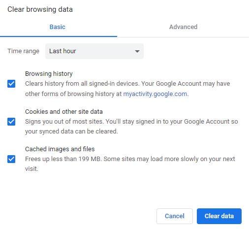 clean your browser Fix Netflix Error Code